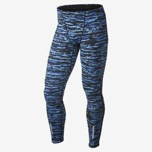 Men's Nike Wilder Tech Tight Fit Dri Fit Warm Running Tights XL 683879-480 Blue