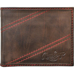 Rawlings Two Strikes Bifold Wallet - Glove Brown Men's Wallet NEW