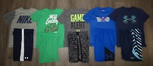 Lot 10 Boys UNDER ARMOUR NIKE Dri-Fit T-Shirts Athletic Shorts YSM Youth Small 8