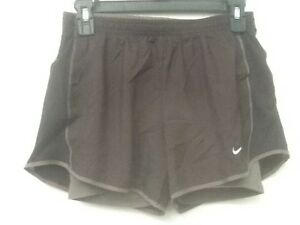 NIKE Women's Size XS Two-in-One Tempo Track Running Shorts Brown 405251-220