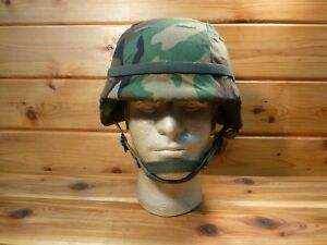 U.S. MILITARY PASGT COMBAT HELMET MADE WITH KEVLAR SIZE SMALL 2