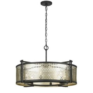 Cal Lighting Howell Metal 6 Light Pendant SilverIron 17