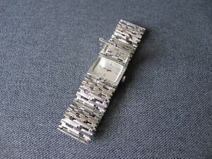 Vintage Bulova N7 Swiss Hidden Watch Modernist Bracelet working condition
