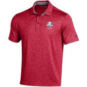 Under Armour 2020 Ryder Cup Red Heathered Playoff Polo
