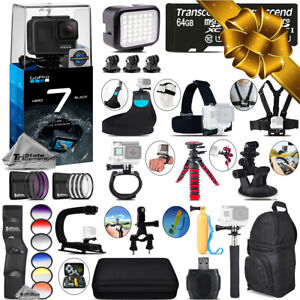 GoPro Hero7 Black 4K Camera + 13PC Filter Kit Set + Backpack -128GB Bundle Kit