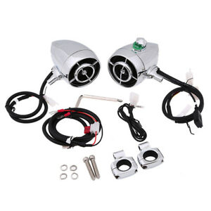 Motorcycle Amplifier MP3 WMA Stereo Speaker Audio System AUX Radio For Harley US