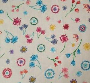 Dandy Days BTY Sarah J Marcus Brothers Pink Teal Blue Red Floral Ivory Feedsack