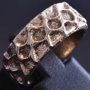 Size 6 All 14k Gold Navajo Earth Tufa cast Ring by Merle House 8J26N