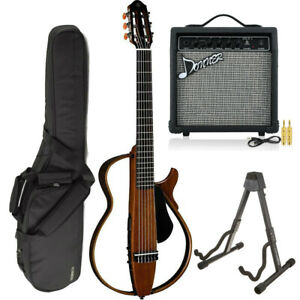 Yamaha SLG200N AMP BUNDLE Silent Guitar (Natural) W Free Amp Stand *New*