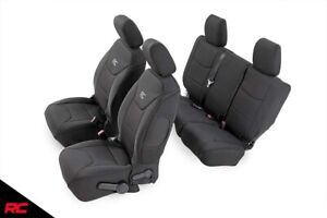 Rough Country Neoprene Seat Covers Black fit 2011-2012 Jeep Wrangler JK 4DR Set