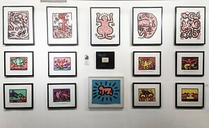 KEITH HARING WALL  RARE ORIGINAL & PRINTS  MANY OTHERS AVAILABLE  SEE LIVE*