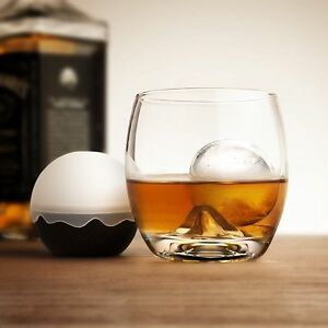 Final Touch On the Rock Glass Ice Ball Mould Silicone Sphere Clear Whisky Drink