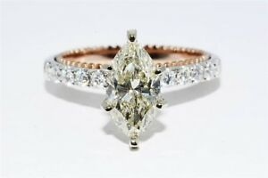 $16000 1.75CT EGL CERTIFIED NATURAL MARQUISE CUT DIAMOND ENGAGEMENT RING 18K