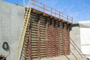 BEP Aluminum Concrete Gang Forms Hardly Used Western Hand Set