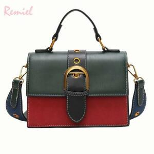 Bags for Women 2018 Fashion New Quality PU Leather Women bag Hit color Portable