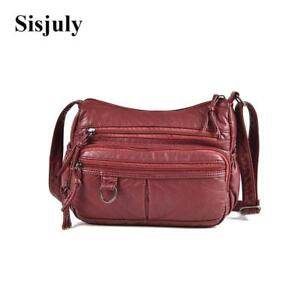Sisjuly Soft Small Leather Women Bag Female Shoulder Bags Portable Crossbody Bag