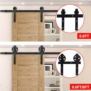 Sliding Barn Door Hardware Rectangle Track Rail Track Basic Kit 6.67.58ft