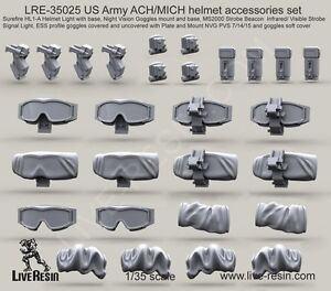 Live Resin 35025 135 US Army ACHMICH Helmet Accessories Set
