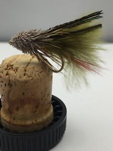 Fly Fishing PRIME collection MINI OLIVE MARABOU MUDDLER Lure Pack of 10