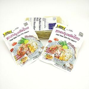 Original Thai Food Pad-Thai Stir-Fry Sauce &Noodle by Lobo Easy Quick 4 Servings