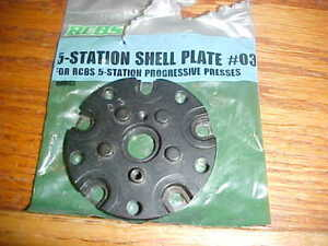 RCBS 5 Station Progressive Press Shell Plate #3 for 30-06308243270 ManyOthers