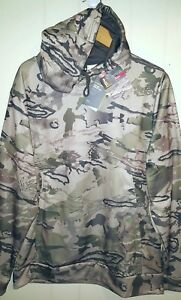 Under Armour Hunting Ridge Reaper Camo Pullover Hoodie Mens Large NWT $74.99