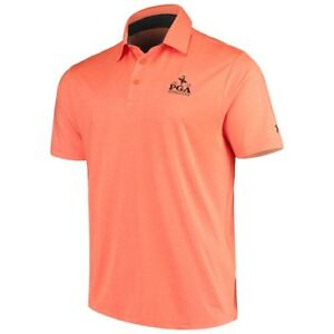 Under Armour 2019 PGA Championship Orange Playoff Heather Polo