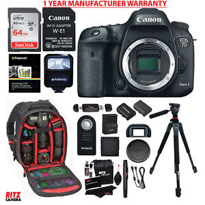 Canon EOS 7D Mark II DSLR Camera Body Wi-Fi Adapter Kit + MANUFACTURER WARRANTY