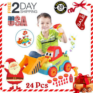 Cartoon Construction Car Music and Lights Bulldozer Toys for Baby Toddlers Gift