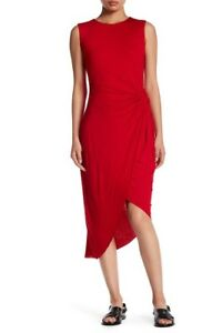 Bailey 44 Sleeveless Twist Front Body-Con RED Dress Large $183 SOLD OUT!