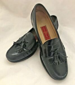 SHOES MENS DESIGNER COLE HAAN CITY KILTIE TASSLE LOAFERS SIZE 10-12B BLACK