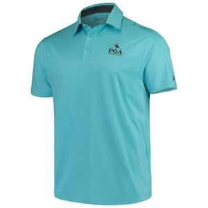 Under Armour 2019 PGA Championship Teal Playoff Heather Polo