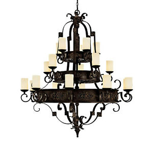 Capital Lighting 3600RI-125 River Crest 20-Light 3-Tier Candle Style Chandelier