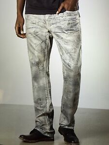 TRUE RELIGION RICKY SUPER T LIMITED EDITION AGED ALLOY MEC859N0E9 NWT 34W $498