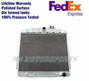 KKS POLISHED ALUMINUM RADIATOR FOR CHEVY BEL AIR V8 ENGINE 1955-1957 1956 3 ROWS