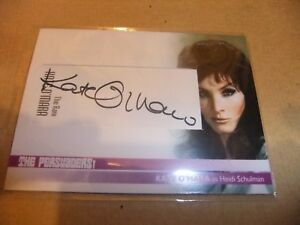 KATE O'MARA THE PERSUADERS CUT AUTOGRAPH CARD KO3 UNSTOPPABLE ROGER MOORE CURTIS