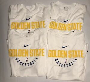 LOT Nike DRI-FIT Golden State Warriors Practice Jersey Shirt 877532 100 NWT