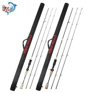 Rosewood UL Fishing Rod With Case Double Tips Utra Light Carbon Soft Lure Spinni