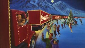 Original 1999-2000 Coca Cola Christmas Campaign Painting By Artist Brent Benger