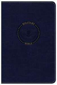 Holy Bible : Christian Standard Bible Navy Blue Leathertouch Military Bible...