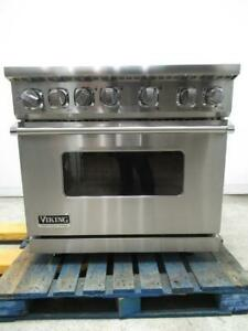 Viking Professional 7 Series 36 Inch Pro-Style Dual-Fuel Range VDR7364GSS