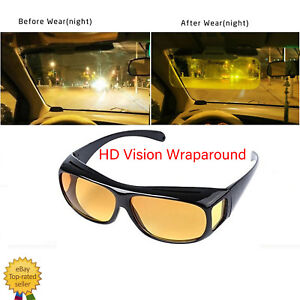 HD Night Vision Wraparound Sunglasses As Seen on TV Fits OVER Glasses Drive