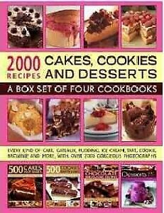2000 Recipes : Cakes Cookies and Desserts: A Box Set of Four Cookbooks Pape...