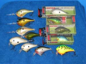 12 Rapala Dive To Crankbaits 8 are New A Mix Of DT FAT To DT16s Fishing Lures