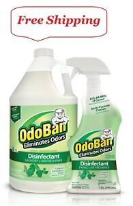 OdoBan Odor Disinfectant Eucalyptus (1 Gallon Concentrate  32 oz. Ready-to-Use