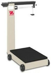 NEW Ohaus D500M Portable Industrial Mobile Floor Beam Scale w Wheels