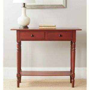 Safavieh Rosemary Pine Wood Console in Red 31.9 in. H x 37.8 in. W x 13 in. D