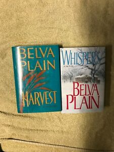 Belva plain Lot Of 2 BOOKS WHISPERS & HARVEST HC