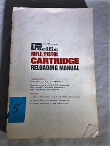 PACIFIC RIFLEPISTOL CARTRIDGE RELOADING MANUAL. Hornady-1967 5th printing