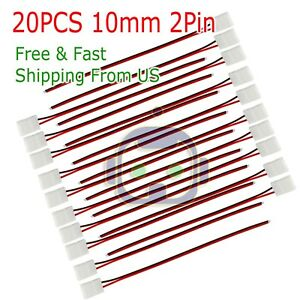 20PCS 10mm 2 Pin Single Connector Adapter cable For 5630 5050 LED Strip Light